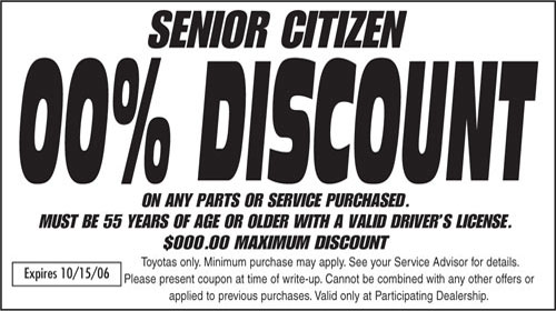 However, many locations continue to provide a senior discount ranging from 10 percent to 15 percent. Arby's: 10 percent off. Many locations offer a 10 percent discount for seniors.